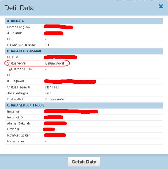 detail data